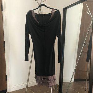 NEW patrizia pepe layered sweater dress